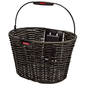 KlickFix Structura Panier Ovale, black/brown